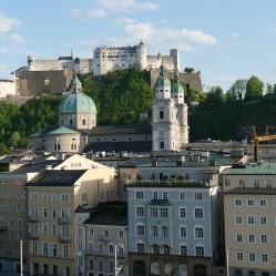 Blick auf Festung Hohensalzburg vom Hotel Stein (Dachterrasse)