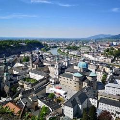 Blick auf die Altstadt von Festung Hohensalzburg