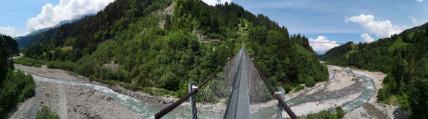 Panorama Hängebrücke Hostalde