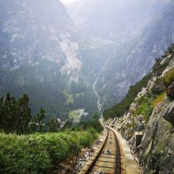 Abfahrt mit der Gelmerbahn